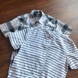 Lot of 2 XL button down shirts, EUC!